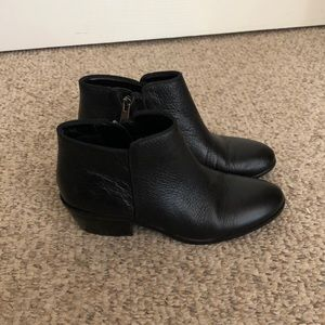 Sam Edelman black Petty leather ankle boots sz 4